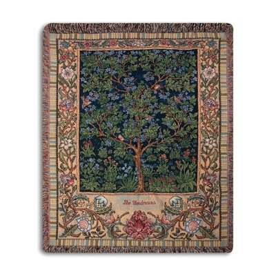 Personalized, Embroidered Vintage Family Tree Throw front-688762