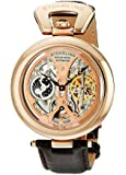 Stuhrling Original Men's 127A.334553 Special Reserve Emperor's Grandeur Automatic Skeleton Dual Time Rose Tone Watch