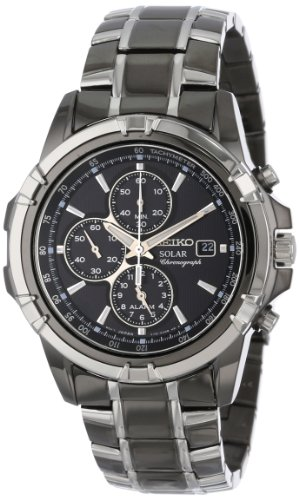 Seiko Men's SSC143 Stainless Steel Solar Watch