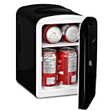 Magnasonic Portable 6 Can Mini Fridge Cooler & Warmer, 4L Capacity, Fully Insulated, Thermoelectric, 110V & 12V AC/DC Power for Home, Office, Car, RV, Boat (MF41)