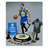 NBA Stephen Curry 1:6 Scale Real Masterpiece Action Figure (Color: Black)
