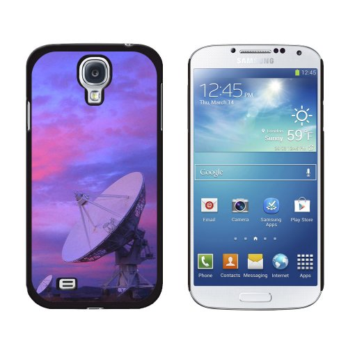 Graphics And More Very Large Array Vla Radar Telescope Dishes New Mexico At Sunset Snap-On Hard Protective Case For Samsung Galaxy S4 - Non-Retail Packaging - Black