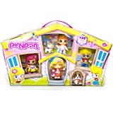 Pinypon - Pack de 4 figuras y 2 pets (Famosa 700010145)