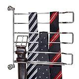 Wenko 5973100 Schrankeinbau Krawatten und Gürtelhalter schwenkbar, 22 x 22.5 x 3 cm, chrom