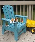 Polywood South Beach Kid Chair in Slate Grey