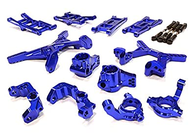 Integy RC Hobby C26071BLUE Billet Machined Suspension Conversion Kit for Associated RC10B5