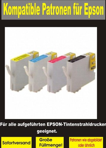 4x kompatible Patronen für EPSON (1x bk 1811,cy 1812,ma 1813,ye 1814 ) !!! Für folgende EPSON Geräte : Expression Home XP-102 XP-202 XP-205 XP-30 XP-302 XP-305 XP-402 XP-405