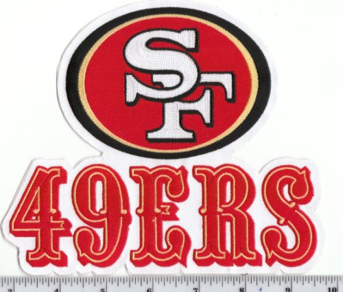 HUGE San Francisco 49ers 7 inch x 6 inch Throwback Old Logo PATCH Iron or Sew On at Amazon.com