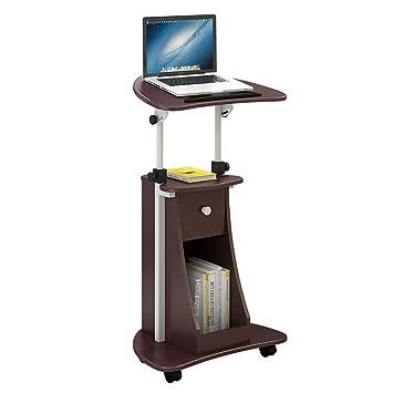 Anjcd Mesa de trabajo portátil Mesa de trabajo giratoria Mueble ajustable ( Color : 1# )
