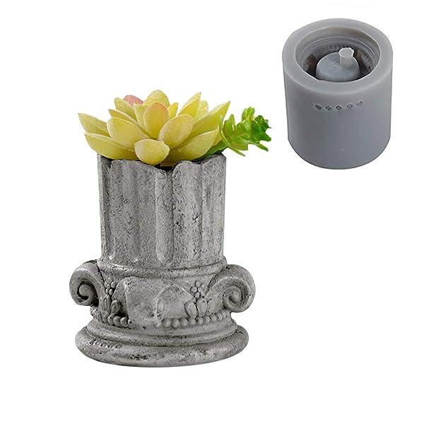 Resin Casting Mold Cement Concrete Mould CUTICATE 1Pcs Rectangular Flowerpot Silicone Mold for DIY Garden Pot//Planter//Ashtray//Candle Holder Crafts