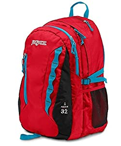 """JanSport Agave Backpack - High Risk Red / 19""""H x 13.5""""W x 10""""D"""