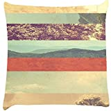 Snoogg Travel Story Digitally Printed Cushion Cover throw pillows 12 x 12 Inch
