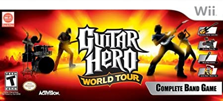 Wii Guitar Hero World Tour Band Kit