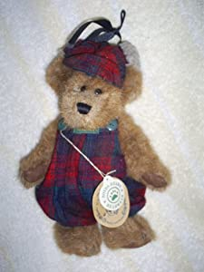 "Boyds Bears Plush 8"" Edmund Fall 1997 #9175-08 Red Plaid Hunting Outdoors Outfit"