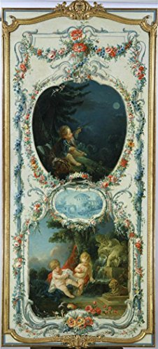 The High Quality Polyster Canvas Of Oil Painting 'Francois Boucher (Workshop Of) - The Arts And Sciences Astronomy And Hydraulics, 1750-52' ,size: 8x18 Inch / 20x45 Cm ,this High Definition Art Decorative Prints On Canvas Is Fit For Hallway Decor And Home