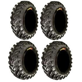 set of 4 atv tires - Full set of GBC Dirt Devil (6ply) 25x8-12 and 25x10-12 ATV Tires (4)