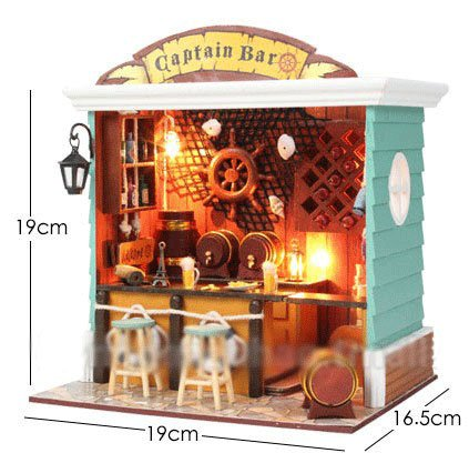 Big Dollhouse Miniature Diy Wood Frame Kit With Light Model Sweet Promise Gift