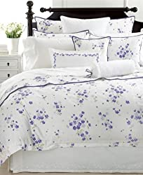 Martha Stewart Collection Bedding, Trousseau Clover Embroidered Standard Pillow Sham Floral Border