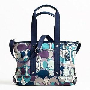 Coach Daisy Scarf Print Nylon Kyra Convertible Tote Handbag 17178 Multicolor