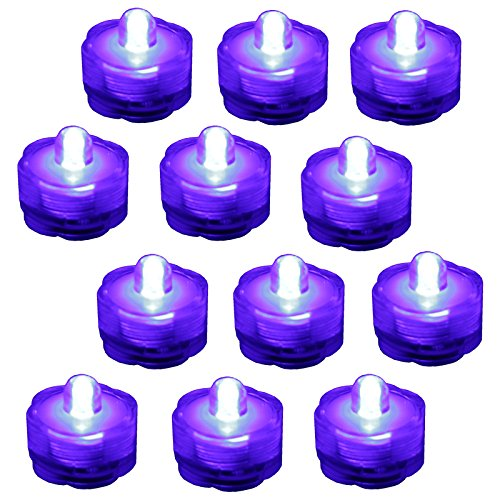 Bluedot Trading Submersible Tea Lights, Purple, 12-Pack