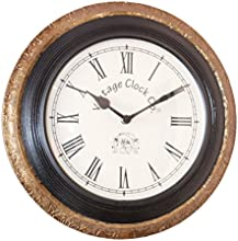 Vintage Clock Black and Golden Wall Clock