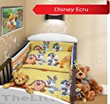 COT BUMPER 100 COTTON PADDED FOR BABY FIT COT 120x60 140x70 STRAIGHT 190cm to fit cot 140x70cm Disney Ecru