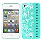 Bling My Thing iPhone 4S/4 EleganceTurquoise Blue Zircon