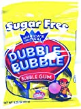 Dubble Bubble Sugar Free, 3.25-Ounce Bags (Pack of 12)