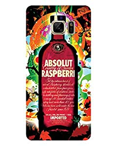 GripIt Absolut-Raspberry Printed Case for Samsung Galaxy Note 7