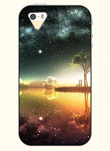 OOFIT Phone Case design with Splendid Bright Sky and Tree along the River for Apple iPhone 4 4s 4g