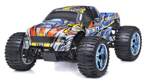 1/10 2.4Ghz Exceed RC Infinitve Nitro Gas Powered RTR Off Road Monster 4WD Truck Stripe Blue ***STARTER KIT REQUIRED AND SOLD SEPARATELY***