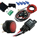 LAMPHUS CRUIZER Off Road ATV/Jeep LED Light Bar Wiring Harness Kit - 40 Amp Relay ON/OFF Switch