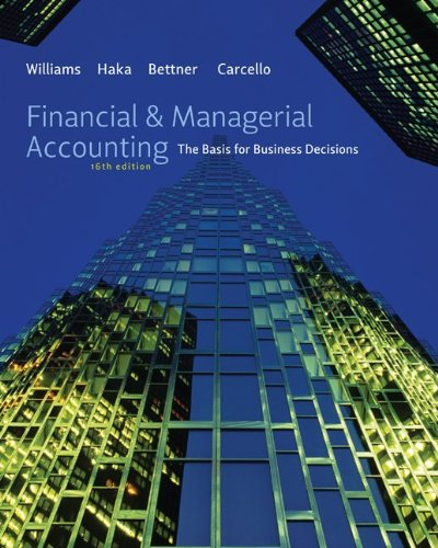 Financial & Managerial Accounting (Financial Tables compare prices)