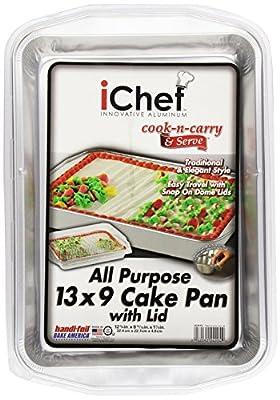 """iChef 13"""" x 9"""" Pan, w/ Lids, 1 ct"""