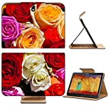 Samsung Galaxy Tab Pro 10.1 Tablet Flip Case Colorful roses bouquet beautiful floral background 38710090 by Liili Customized Premium Deluxe Pu Leather generation Accessories HD Wifi 16gb 32gb Luxury Protector Case