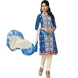 ZofianaFashions Cotton Embroidered Salwar Suit Dupatta Material (POS12)