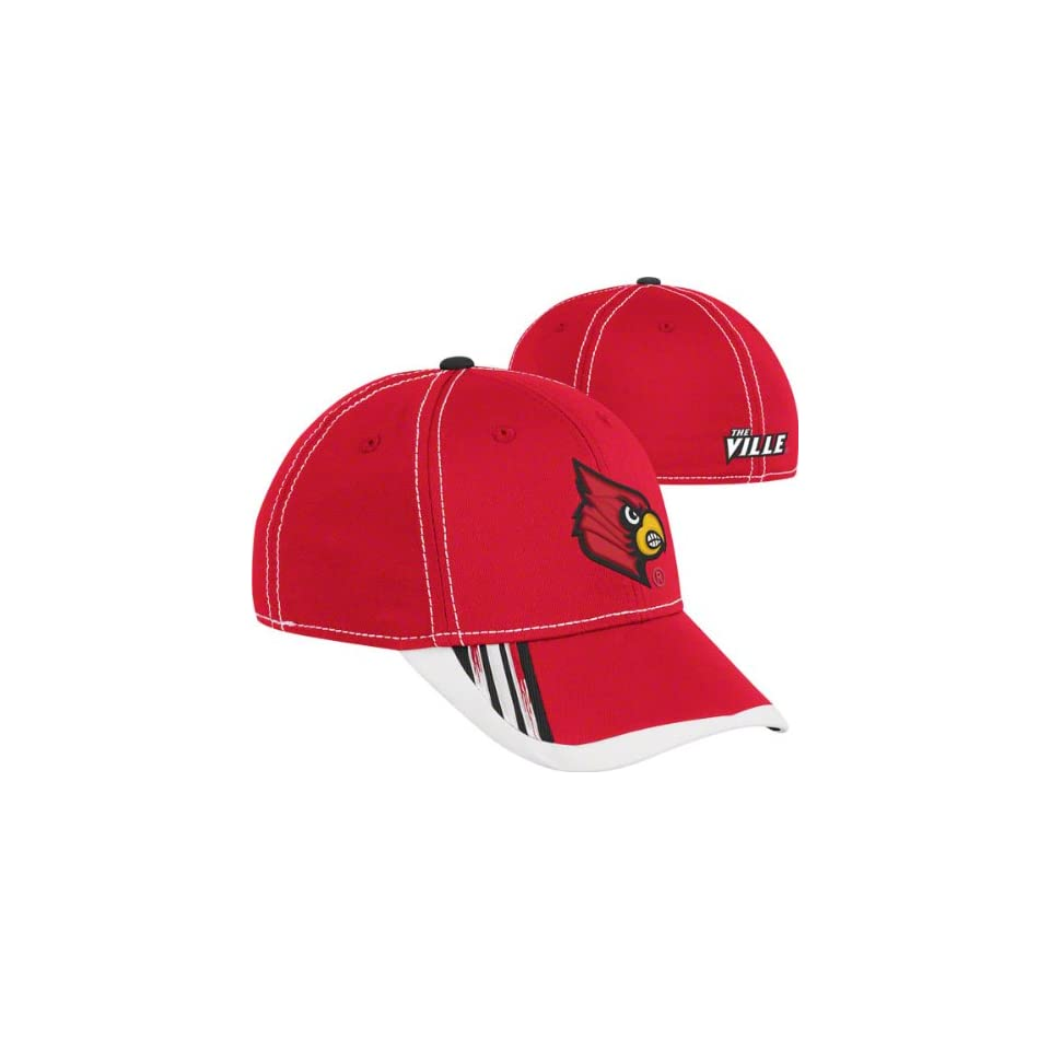 Louisville Cardinals Red Adidas 2011 Sideline Football Players Flex Hat
