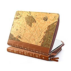 Gmyle Book Case Vintage for 13 inch MacBook Air & MacBook Pro - World Map Pattern