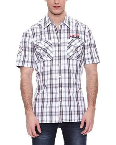 PAUL STRAGAS Camisa Hombre Blanco / Gris