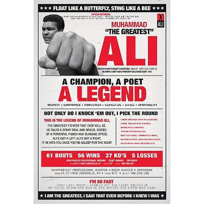 Ali (Vintage Quotes) Poster 24x36 пальто ichi ichi ic314ewvdh35 page 5