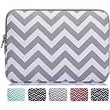 Mosiso - Chevron Gray Canvas Fabric 13-13.3 Inch Laptop / Notebook Computer / MacBook Air / MacBook Pro Sleeve Case Bag Cover, Chevron Gray