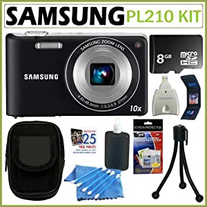 Samsung EC-PL210 Digital Camera with 14 MP and 10x Optical Zoom (Silver)