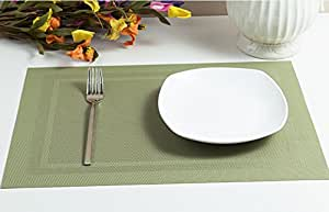 Dining room placemats for table placemat pvc insulation mat table mat set of 4 - Dining room table mats ...