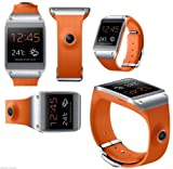 "New! Samsung Galaxy Gear V700 (Orange) 1.63"" Super AMOLED , 800 MHz CPU Smart Watch 100% New"