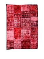 HF LIVING Alfombra Vintage Patchwork (Rojo)