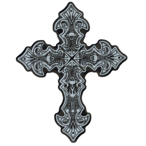 Hot Leathers Reflective Crucifix Patch (4