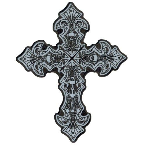 Hot Leathers Reflective Crucifix Patch (4