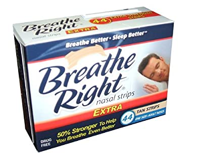 Breathe Right Extra Strong Nasal Strips One Size Fits All, Tan
