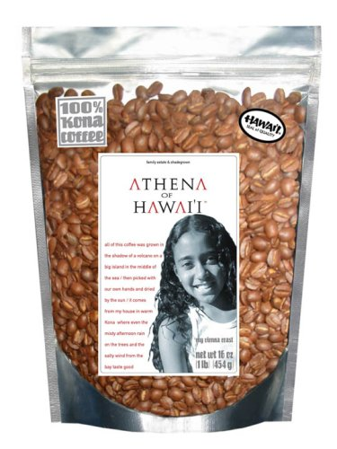 Farm-direct: 100% Kona Coffee, Vienna Roast, Whole Beans, 1 Lb