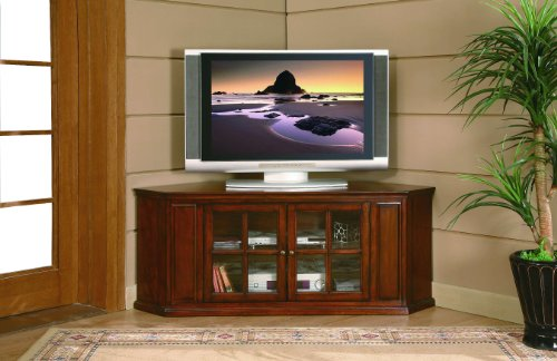 "Homelegance Hayden 62"" Rta Corner Tv Stand In Burnished Oak"